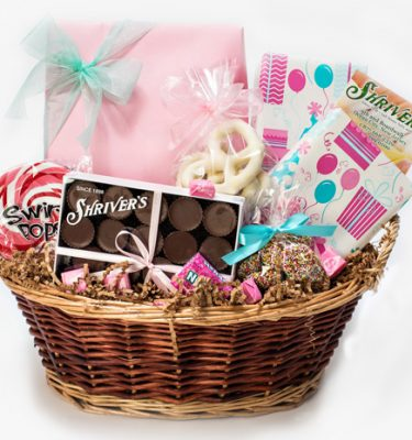 Coral Party Basket